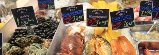Pontypool Markets Fish Counter