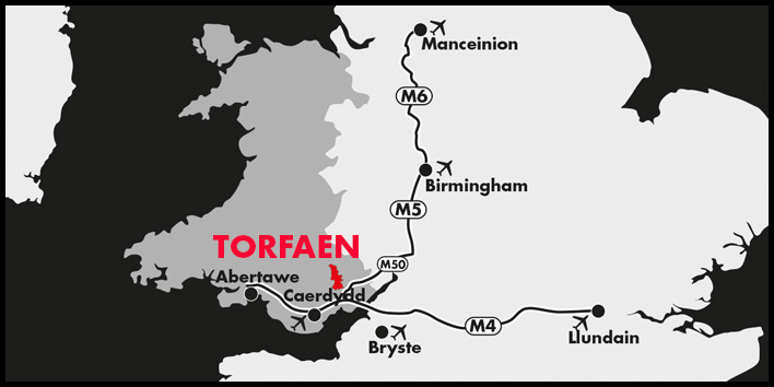 Torfaen Location Map